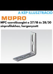 MÜPRO MPC-szerelő szeglet 90fok 27/18-28/30 profilhoz horg.